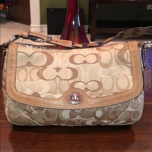 Coach Chelsea Optic Signature Flap Shoulder Purse